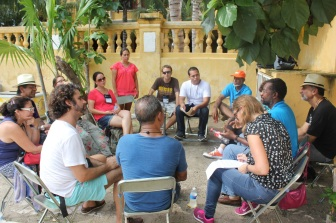Discussion circle at the field trip_2WSFC